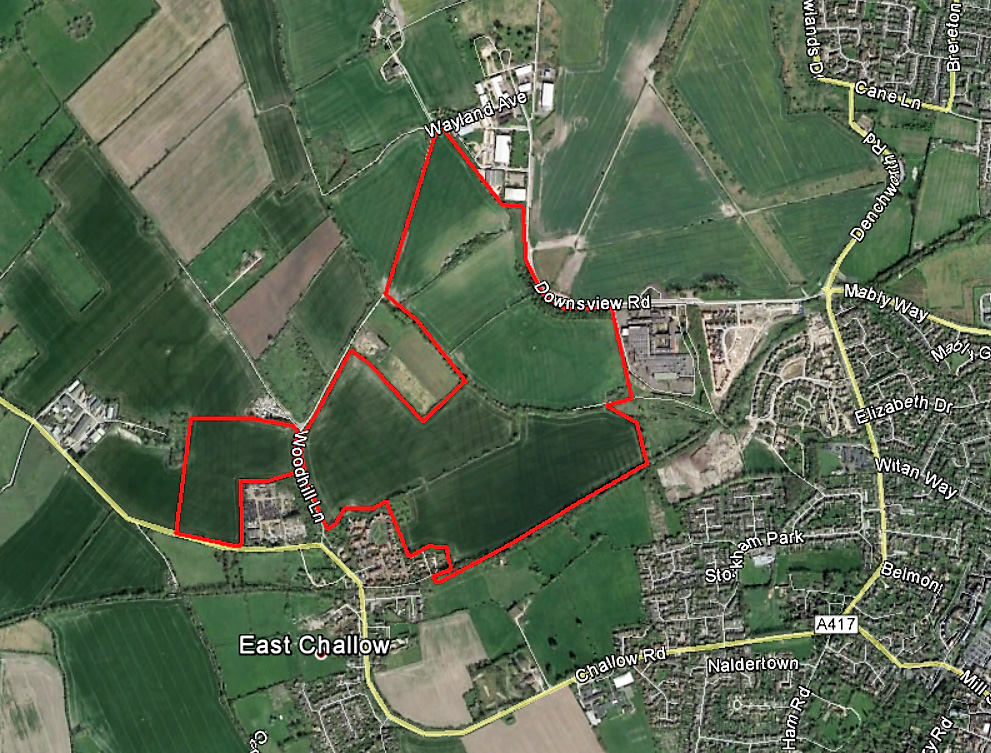 West Wantage, Oxford Site location plan
